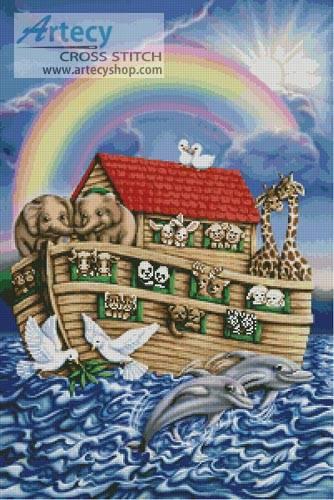 cross stitch pattern Noah's Ark