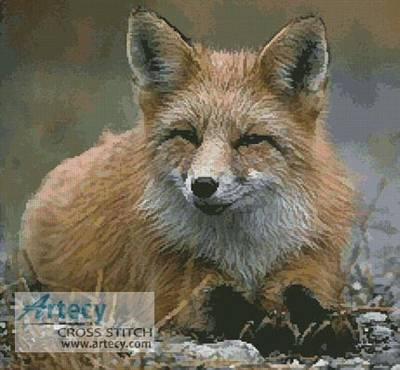 cross stitch pattern Red Fox Photo