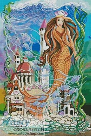 cross stitch pattern Sea Princess