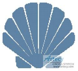 cross stitch pattern Shell Design 1