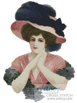 cross stitch pattern Victorian Belle