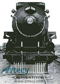 cross stitch pattern Vintage Train