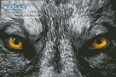 Wolf Eyes Cross Stitch Pattern Wild