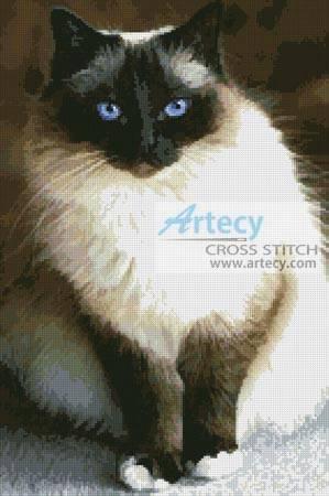 Birman Cat Cross Stitch Pattern cats