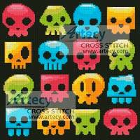 cross stitch pattern Candy Skulls