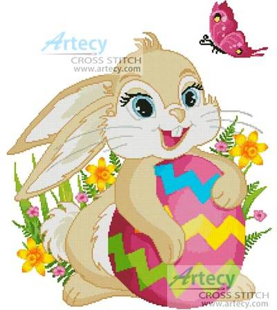 cross stitch pattern Cute Easter Bunny