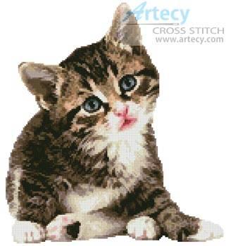 Cute Little Kitten Cross Stitch Pattern cats