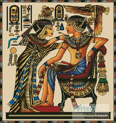 cross stitch pattern Egyptian Papyrus
