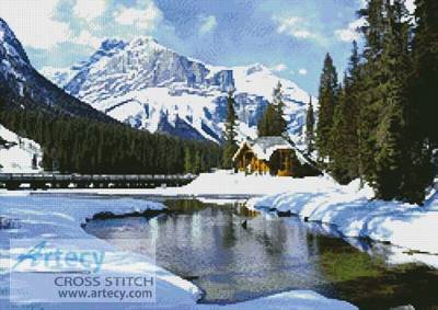 cross stitch pattern Emerald Lake