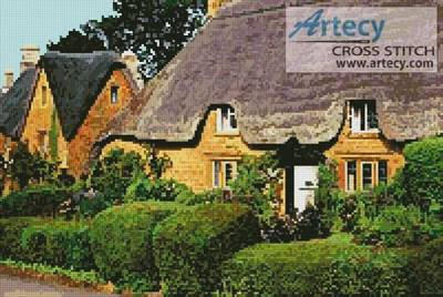 cross stitch pattern English Cottage 1