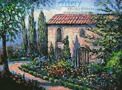 cross stitch pattern A French Garden