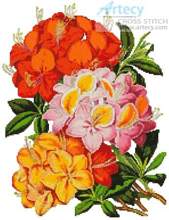 cross stitch pattern Hardy Azaleas
