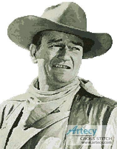 cross stitch pattern John Wayne