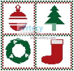 cross stitch pattern Little Christmas Sampler