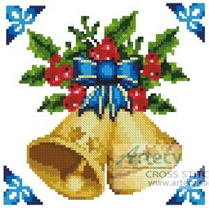 cross stitch pattern Mini Christmas Bells
