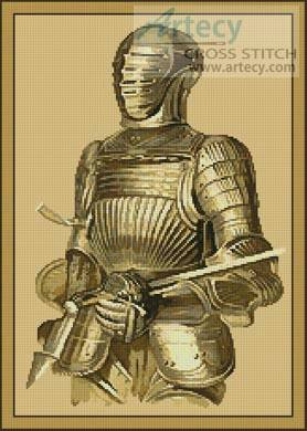 cross stitch pattern Medieval Armour