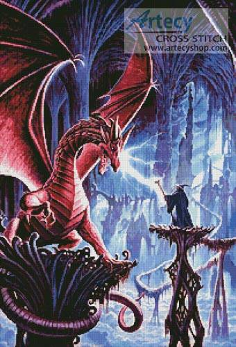 cross stitch pattern The Dragons Lair