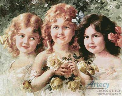 cross stitch pattern Three Sisters