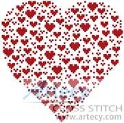 cross stitch pattern Valentine Heart