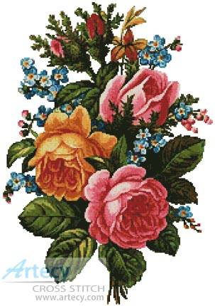 cross stitch pattern Victorian Bouquet 2