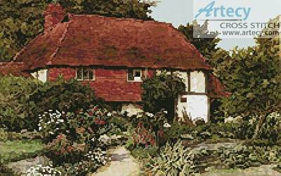 cross stitch pattern A Cottage Garden