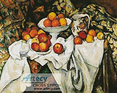 cross stitch pattern Apples and Oranges
