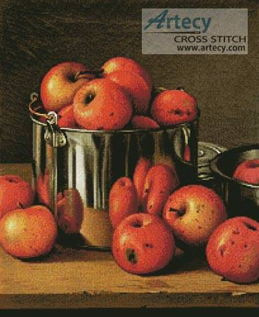cross stitch pattern Apples in a Tin