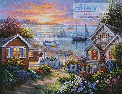 cross stitch pattern Tranquil Seafront