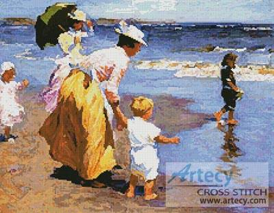 cross stitch pattern At the Beach