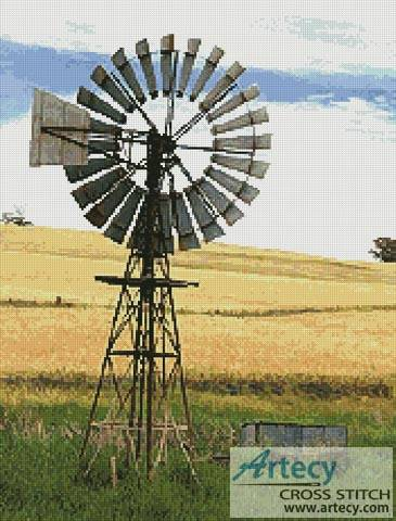 cross stitch pattern Australian Windmill