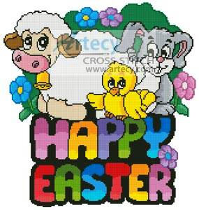 Happy Easter Cross Cute happy easter cross stitch