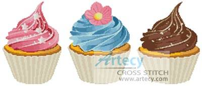 Cupcakes Cross Stitch Pattern Other