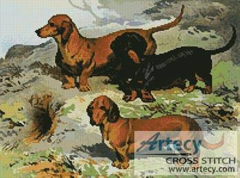 cross stitch pattern Dachshunds