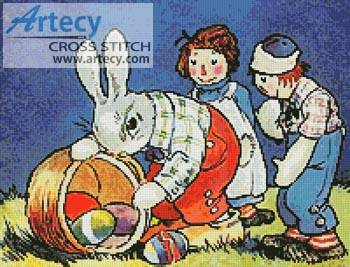 cross stitch pattern Dolls Easter