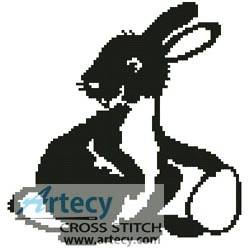 cross stitch pattern Easter Bunny Silhouette