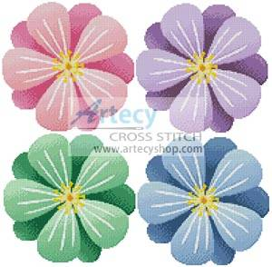 cross stitch pattern Floral Motifs