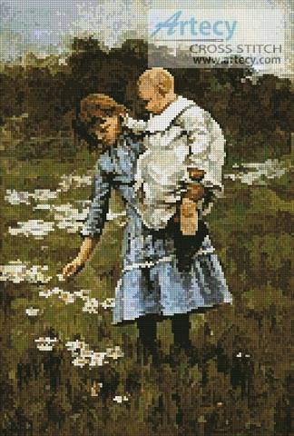 cross stitch pattern In a Daisy Field
