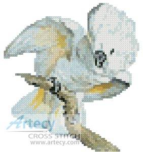 cross stitch pattern Mini White Cockatoo