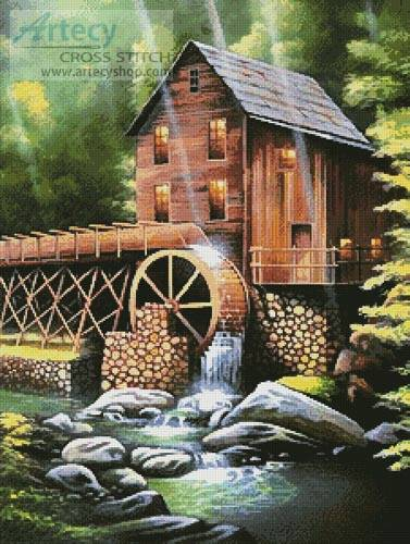 cross stitch pattern Ole Country Mill