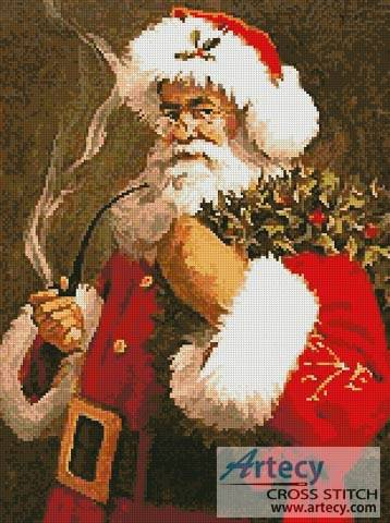 Santa Cross Stitch Pattern Santa