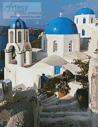 cross stitch pattern Santorini 2