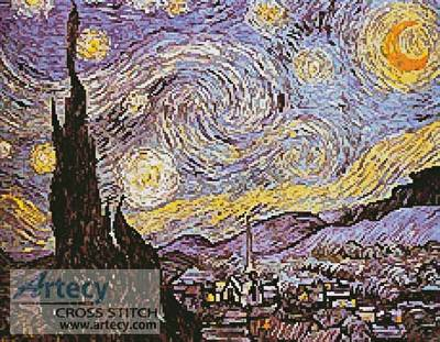 cross stitch pattern Starry Night