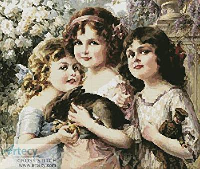 cross stitch pattern Three Graces