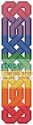 cross stitch pattern Celtic Bookmark 8