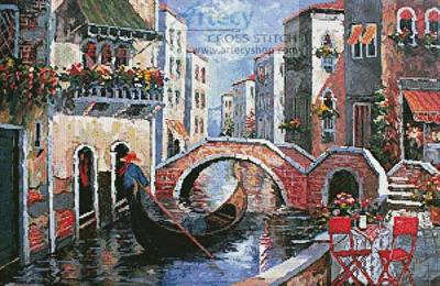 cross stitch pattern Canal of Dreams