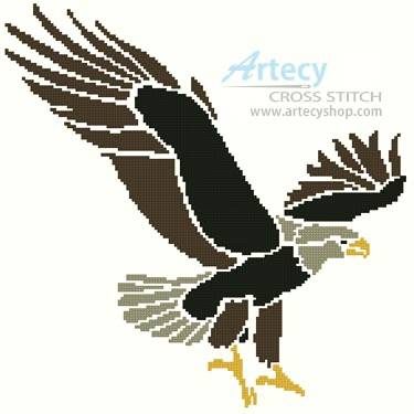 cross stitch pattern Eagle Design