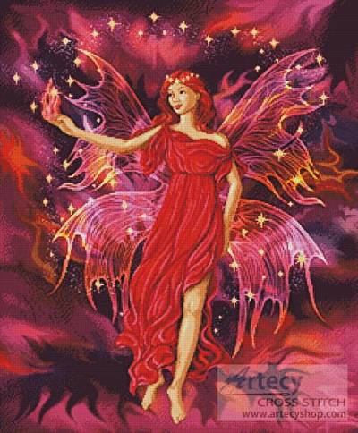 Fairy Flame Cross Stitch Pattern Fantasy