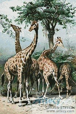 cross stitch pattern Giraffes