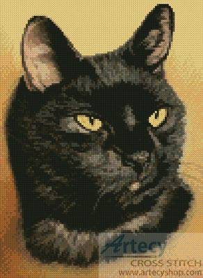 Black Cat Cross Stitch Pattern Cats