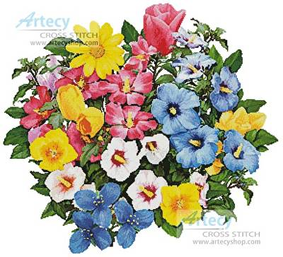 cross stitch pattern Bright Bouquet
